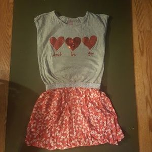 Casual glitter heart dress with Just Be You